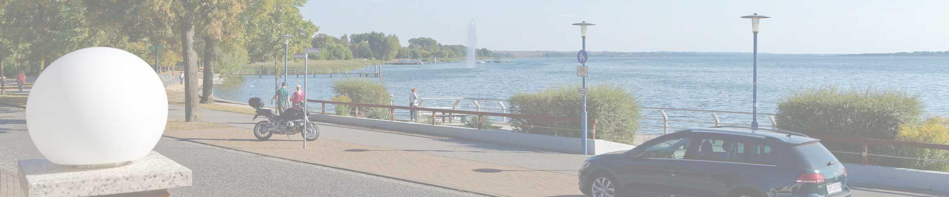 Promenade am Uckersee in Prenzlau
